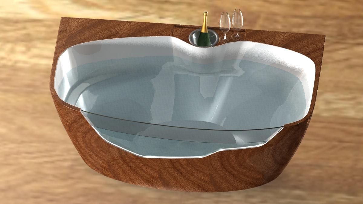 Bath vasca da bagno gallerie edemdesign - Vetro vasca bagno ...